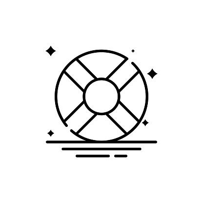 Lifering Vector Line Icon