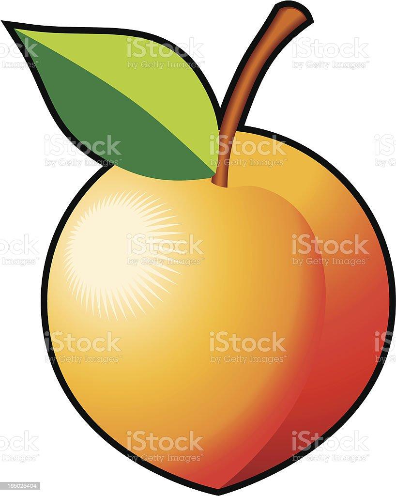 Life's a peach (vector) royalty-free stock vector art
