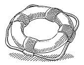 Lifesaver Buoy Symbol Drawing