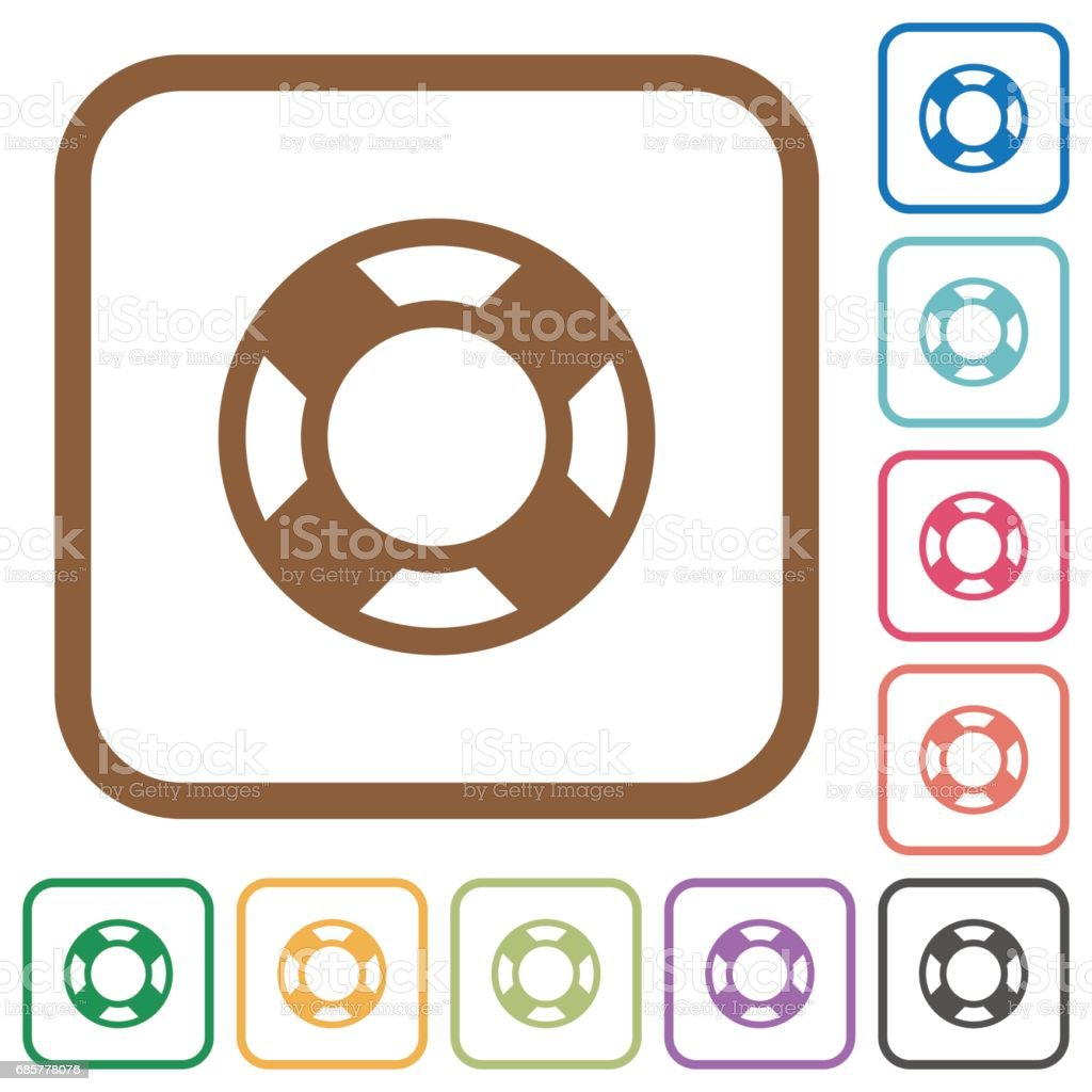 Lifesaver simple icons royalty-free lifesaver simple icons stock vector art & more images of assistance
