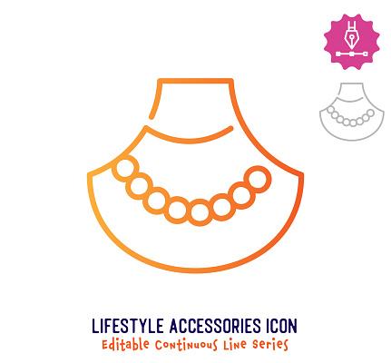 Lifestyle Accessories Continuous Line Editable Stroke Line