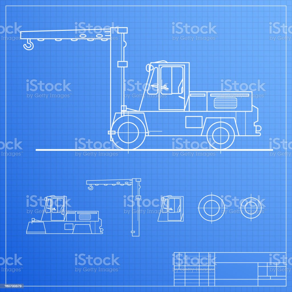 Lift truck blueprint stock vector art more images of agricultural lift truck blueprint royalty free lift truck blueprint stock vector art amp more images malvernweather Images