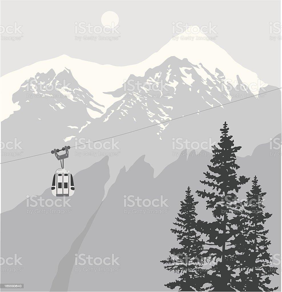 Lift Vector Silhouette royalty-free stock vector art