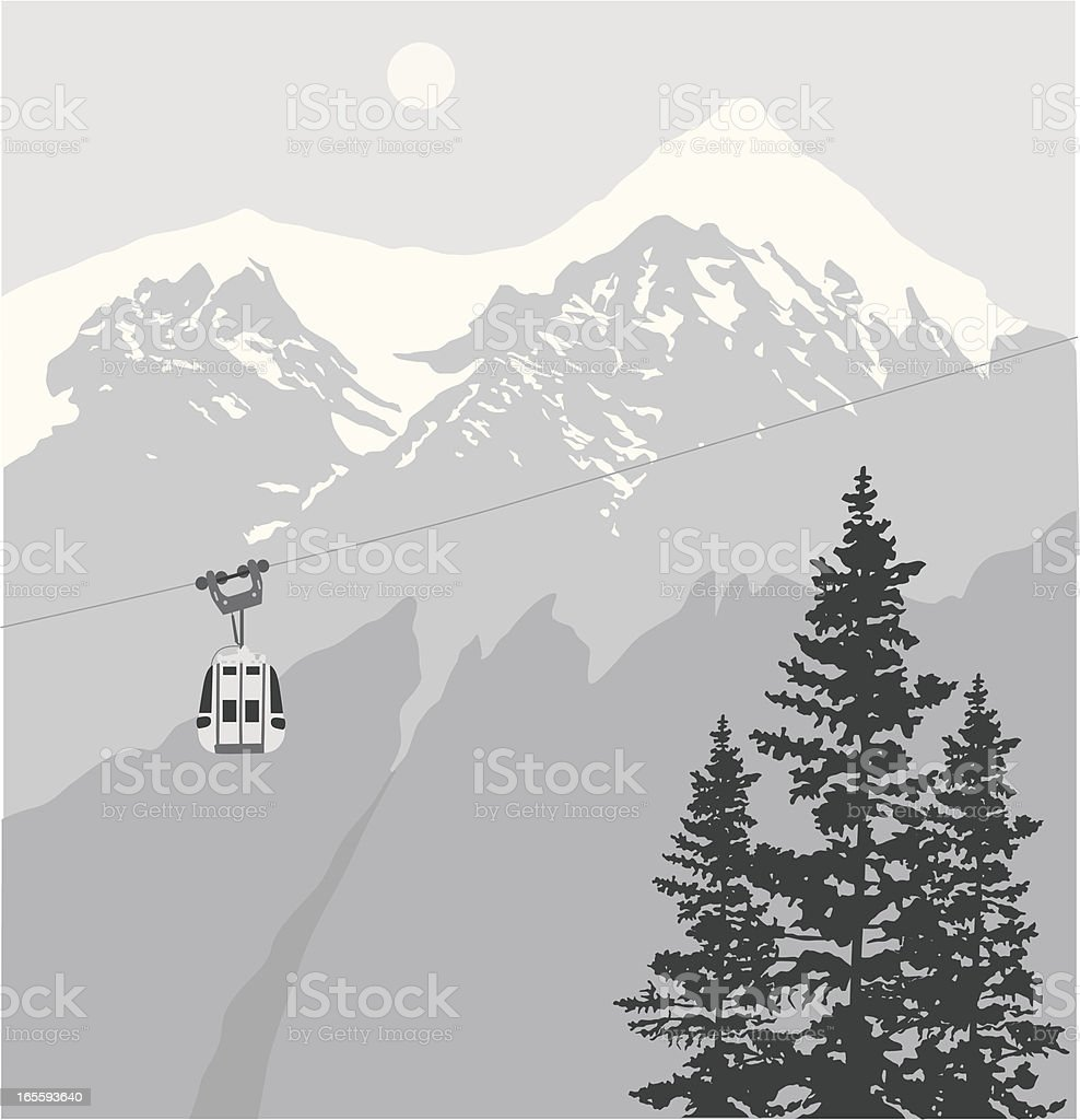 Lift Vector Silhouette vector art illustration