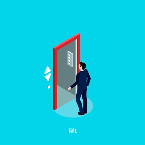 illustrazioni stock, clip art, cartoni animati e icone di tendenza di lift2 - ascensore