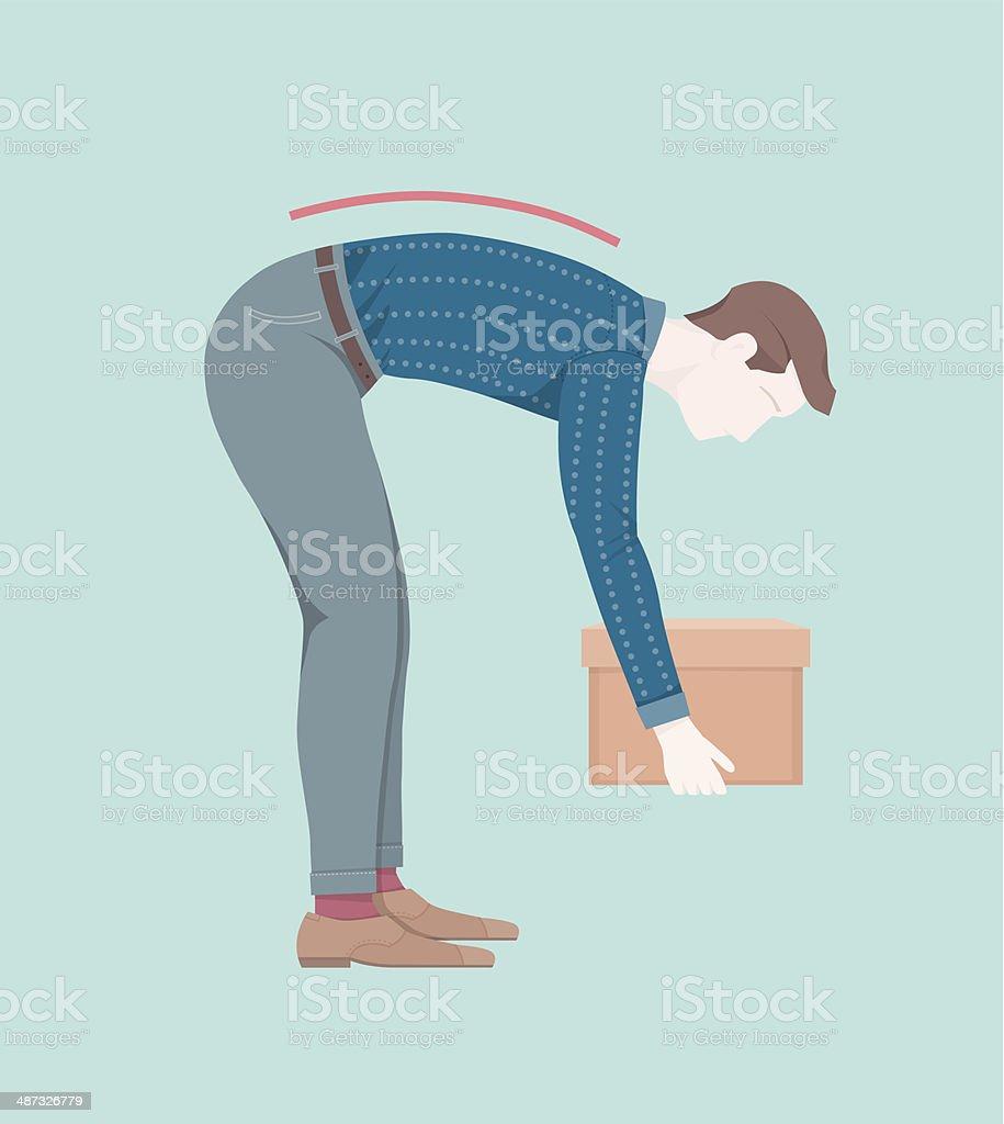 Lifting - Bad vector art illustration