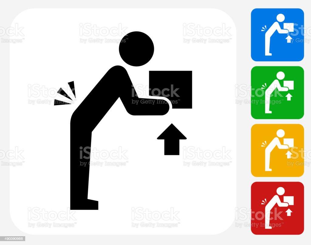 Lifting Hazard Icon Flat Graphic Design vector art illustration