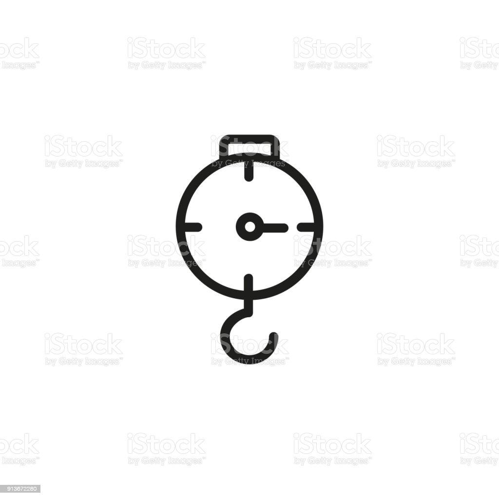Lifting hook set vector art illustration