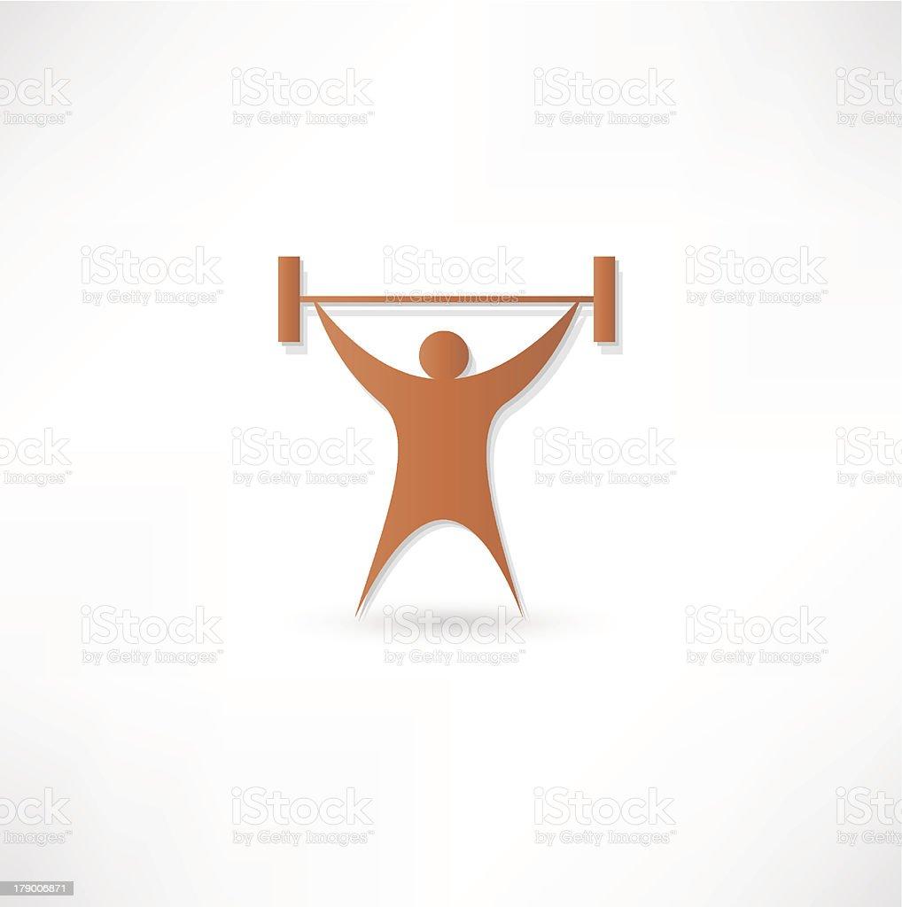 Lifting Weights royalty-free stock vector art
