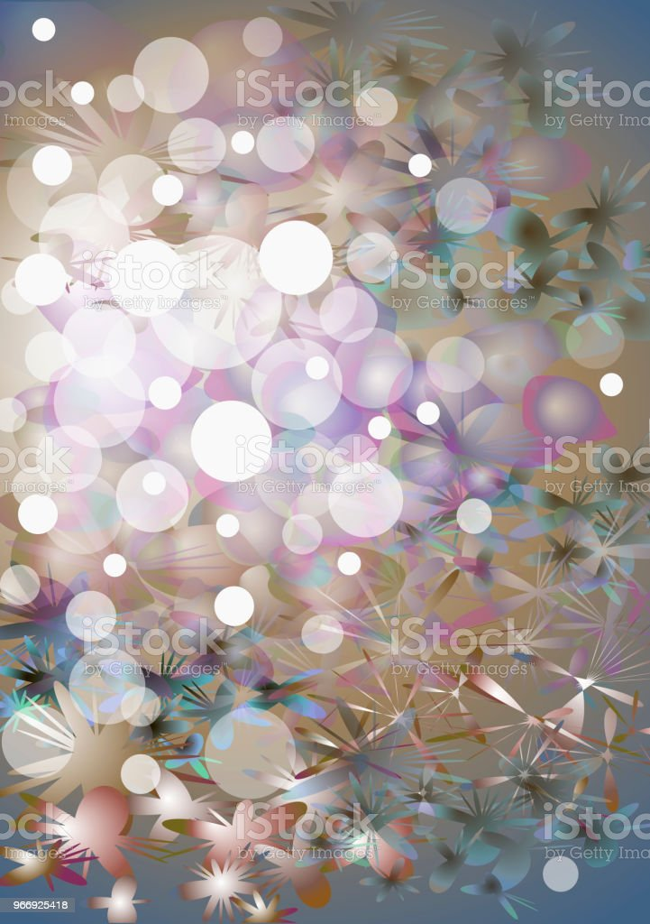 light abstract background on theme of sea with water bubbles stock