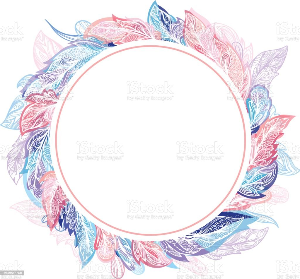 Light Air Romantic Frame vector art illustration