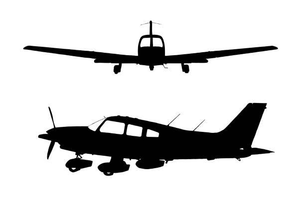 Light Aircraft Vector Shapes vector art illustration