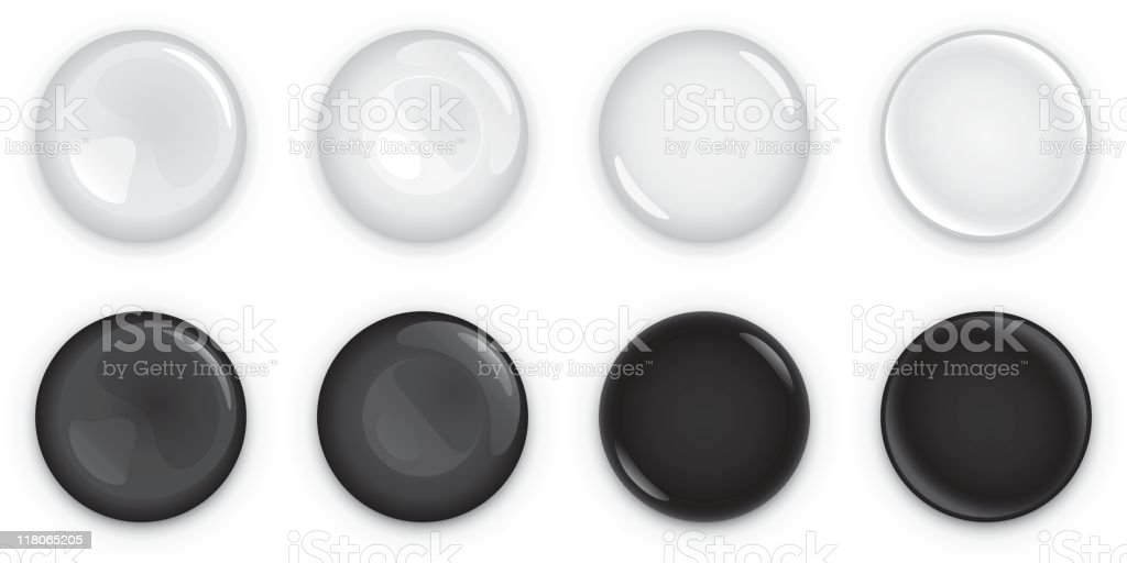 Light and dark shiny buttons royalty-free light and dark shiny buttons stock vector art & more images of badge