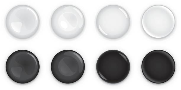 Light and dark shiny buttons vector art illustration