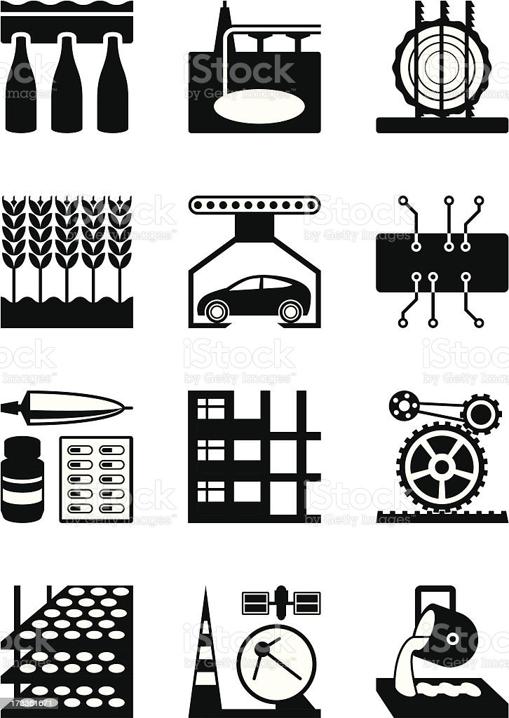 Light and heavy industry royalty-free stock vector art