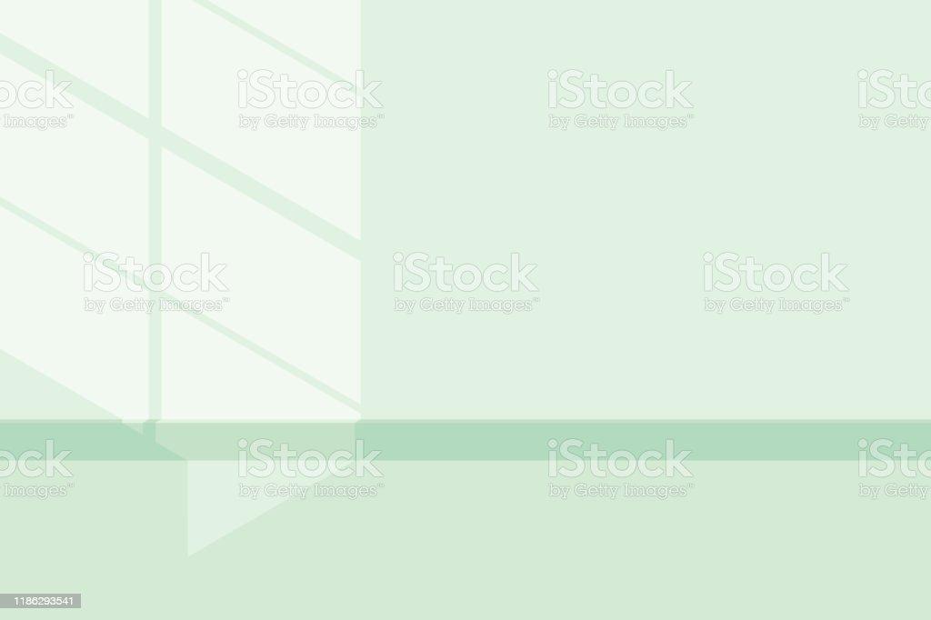 lumière et ombre néo vert menthe - clipart vectoriel de Abstrait libre de droits