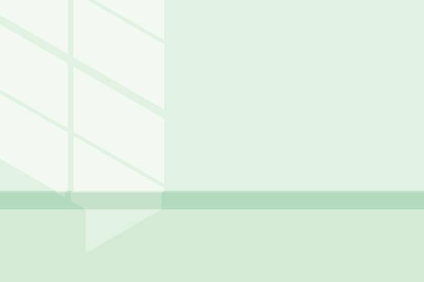 illustrations, cliparts, dessins animés et icônes de lumière et ombre néo vert menthe - architecture intérieure beton