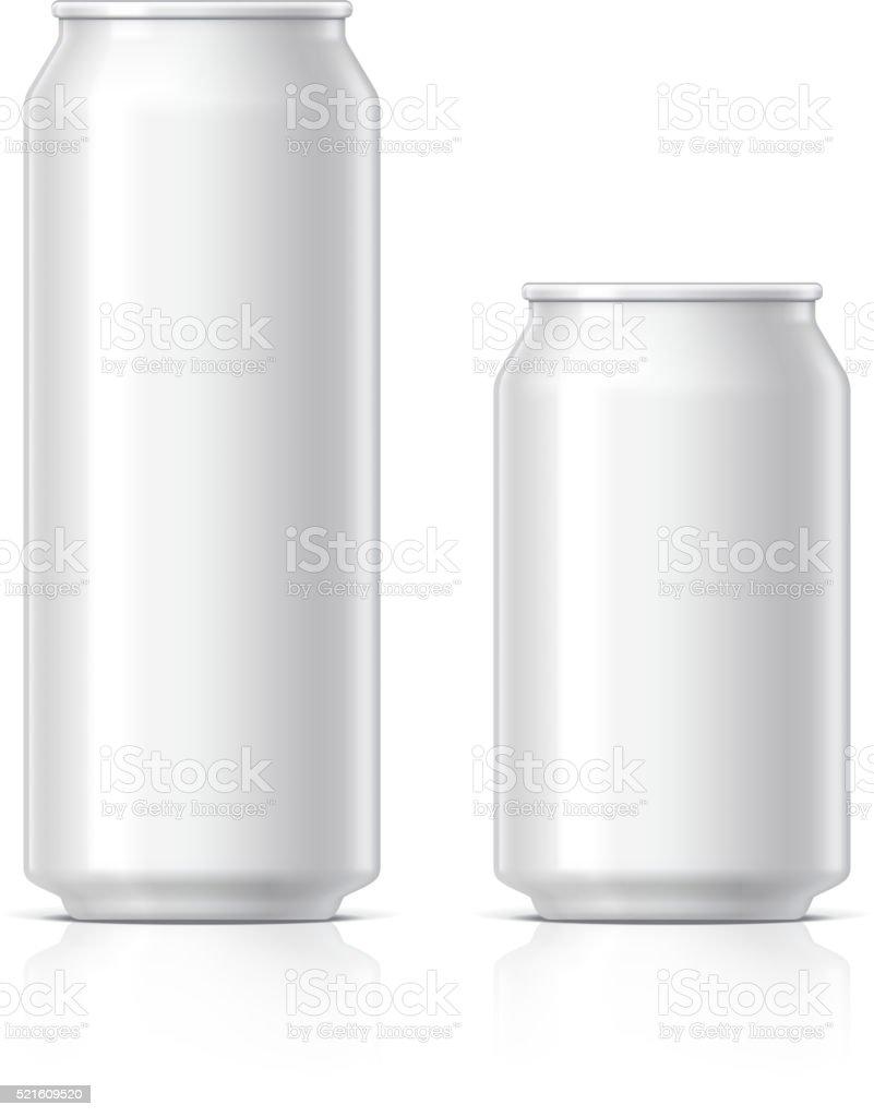 light and shiny aluminum cansvectorkunst illustratie