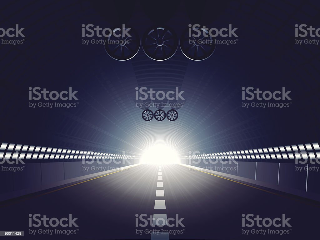 light at the end of the tunnel - Royaltyfri Fart vektorgrafik