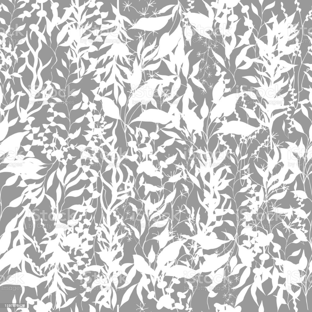 Light Background Of Climbing Plants Twigs And Leaves Climbing Plants Black And White Vintage Texture For Fabric Tile Wallpaper Stock Illustration Download Image Now Istock