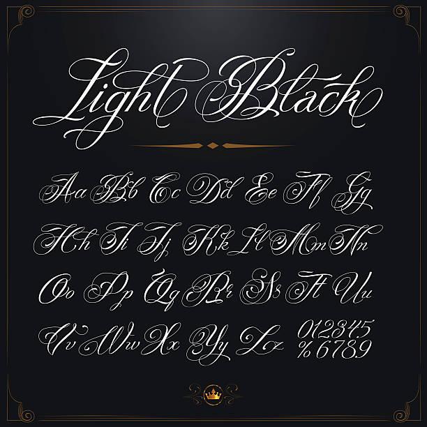光ブラックの書体 ベクターアートイラスト