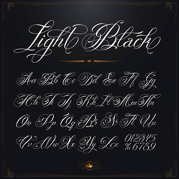 Light Black Typeface vector art illustration