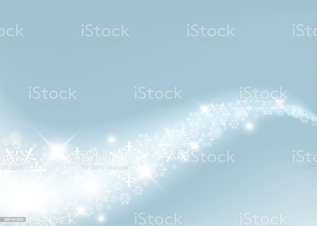 Light Blue Abstract Christmas background vector art illustration