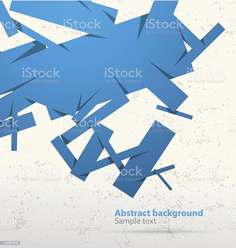 Light blue abstract cubist banner royalty-free stock vector art