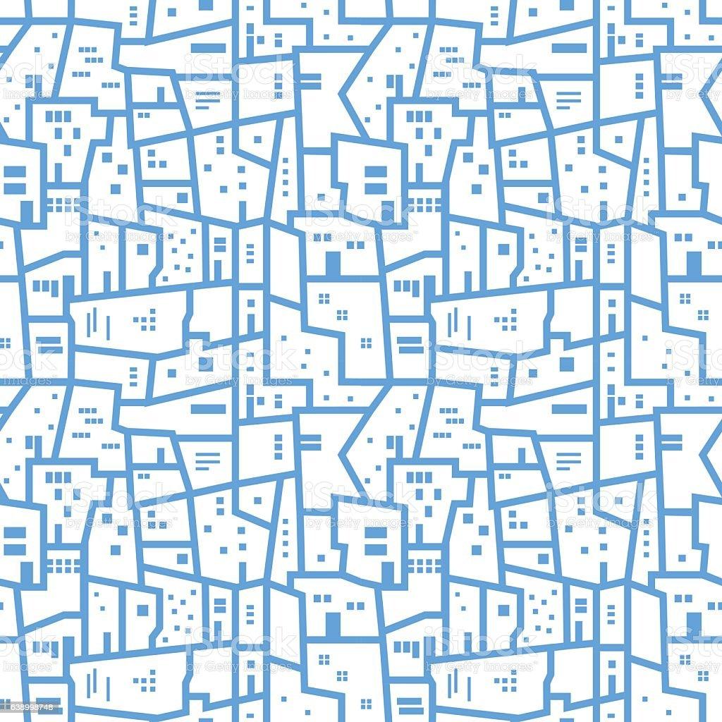 Light blue abstract urban seamless pattern. Vector vector art illustration