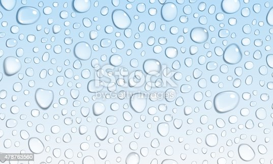 Light Blue Background Of Water Drops Stock Vector Art