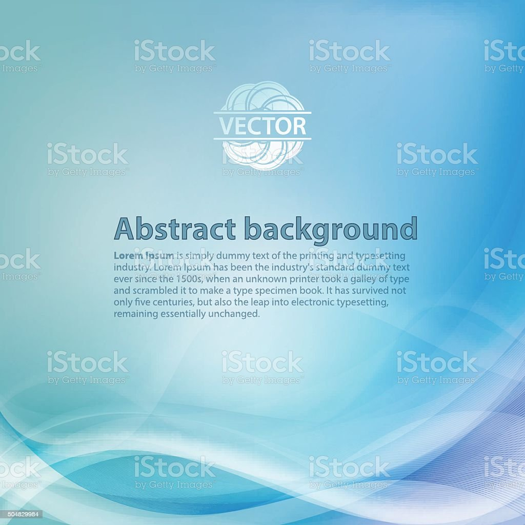 Light blue background with gradient and blend. Business style vector art illustration