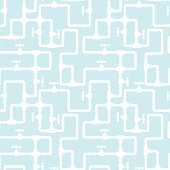 Light blue background with white pipeline pattern