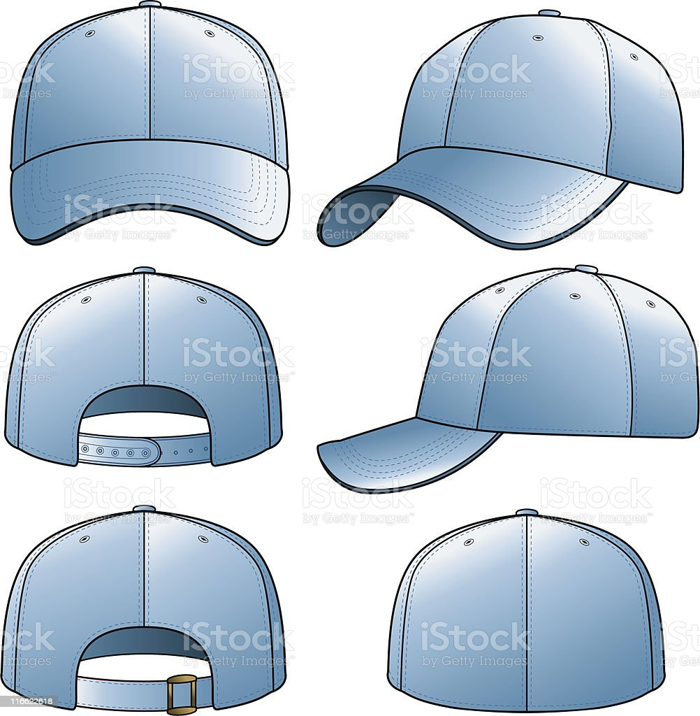Light Blue Cap royalty-free stock vector art