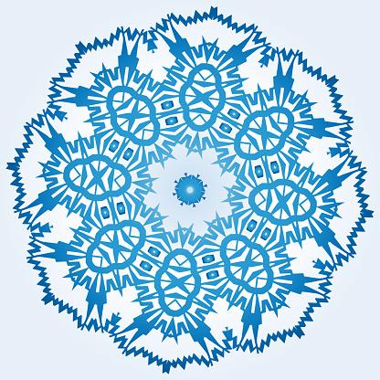 Ljus Blå Element Av Prydnad-vektorgrafik och fler bilder på Abstrakt