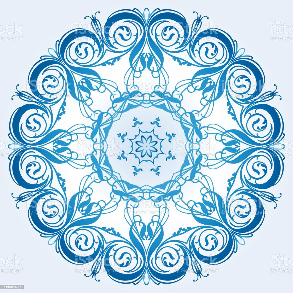 leichte blaue Element des Ornaments - Lizenzfrei Abstrakt Vektorgrafik