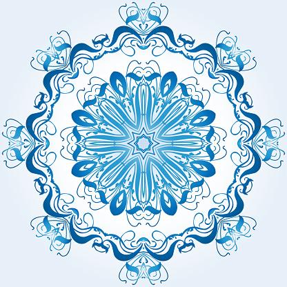 Leichte Blaue Element Des Ornaments Stock Vektor Art und mehr Bilder von Abstrakt