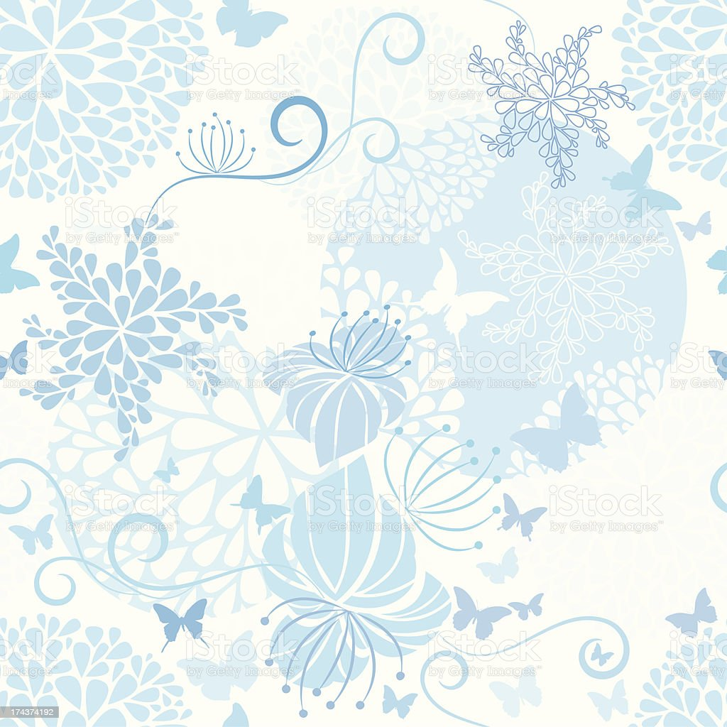 Light Blue floral seamless pattern royalty-free stock vector art
