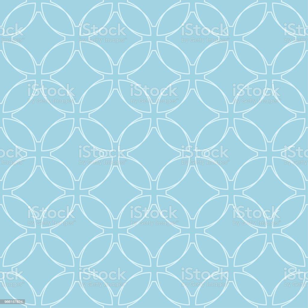 Light blue geometric ornament. Seamless pattern - Векторная графика Абстрактный роялти-фри