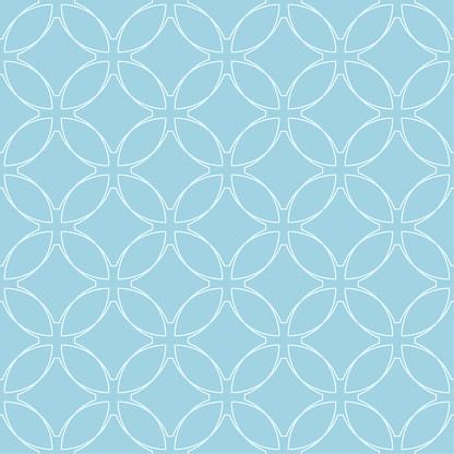 Light Blue Geometric Ornament Seamless Pattern — стоковая векторная графика и другие изображения на тему Абстрактный