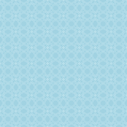 Ljus Blå Geometriska Sömlösa Mönster-vektorgrafik och fler bilder på Abstrakt