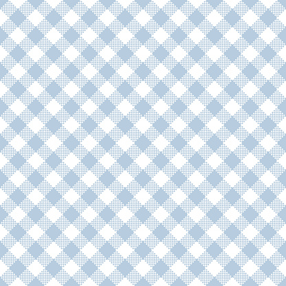 Light Blue Gingham Seamless Pattern Stock Illustration - Download Image Now