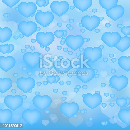 bb2959efa16 Light Blue Hearts 3d Background Valentines Day Shiny Greeting Card Romantic  Vector Illustration Easy To Edit Design Template Stock Vector Art & More  Images ...