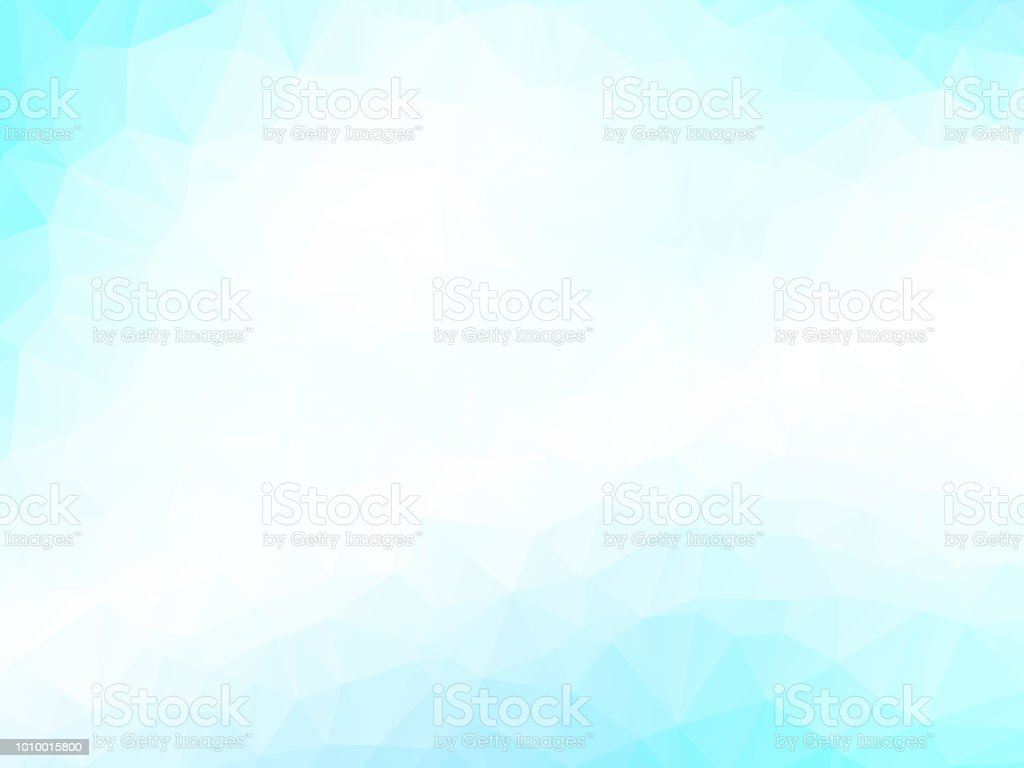 Light Blue Mosaic Triangle Pattern Stock Illustration - Download Image Now