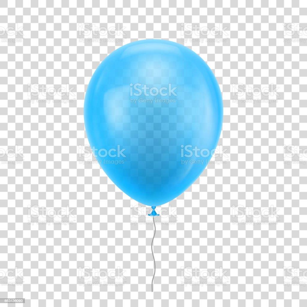 Light blue realistic balloon. - Grafika wektorowa royalty-free (Balon)