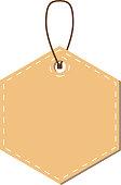 Light Brown Hexagonal tag