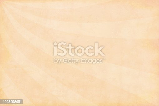 istock Light brown or Beige coloured curved shaped sunburst pattern backgrounds 1208998651