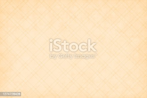 istock Light brown or beige coloured grunge old vector backgrounds with an all over pattern of narrow criss cross double lines. The wallpaper is semi seamless (the crisscross design being seamless while the grunge is not) 1274728428