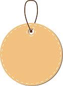 Light Brown Round tag