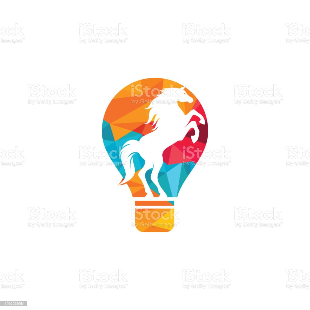 Light Bulb And Horse Logo Design Stock Illustration Download Image Now Istock