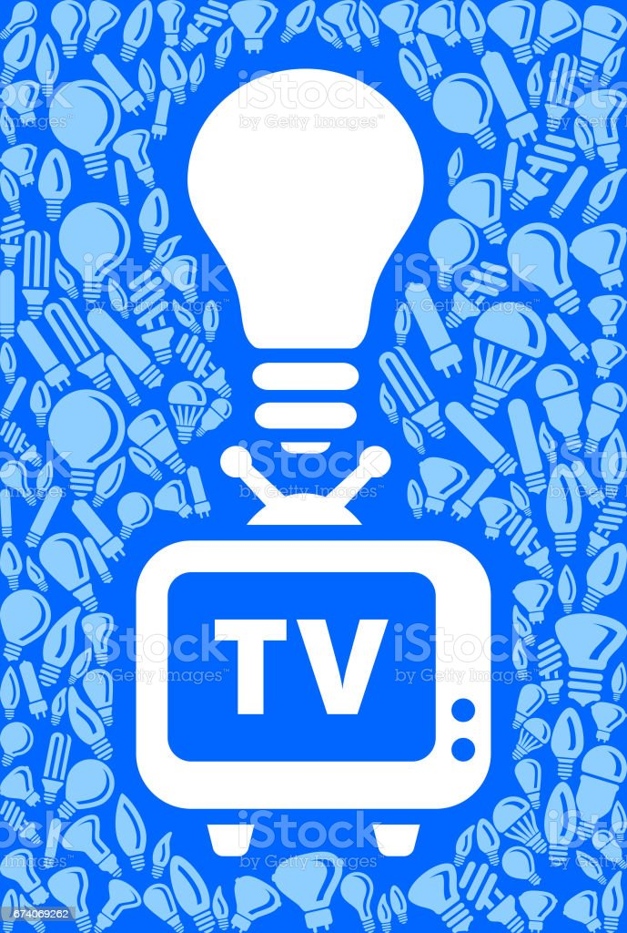 TV Light Bulb Blue Vector Background Pattern royalty-free tv light bulb blue vector background pattern stock vector art & more images of backgrounds